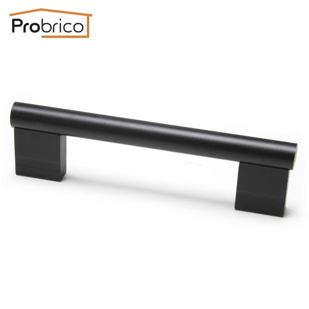 Probrico Furniture Cabinet Handle PD8011BA96 Modern Aluminum Black Hole Center 96mm 3.8 Inch Kitchen Drawer Knob Cupboard Pull ручка дверная china arts 96 10 8011