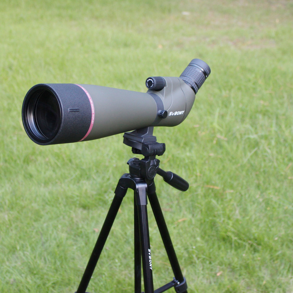 SVBONY SV13 Spotting Scope 20-60X80 Zoom MC Powerful Hunting Optics 45 Degree Monocular Telescope+49 Long Tripod F9314ABSVBONY SV13 Spotting Scope 20-60X80 Zoom MC Powerful Hunting Optics 45 Degree Monocular Telescope+49 Long Tripod F9314AB