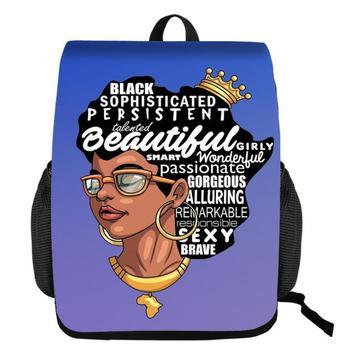 Black Queen African American Girl School Bags for Teenagers  2