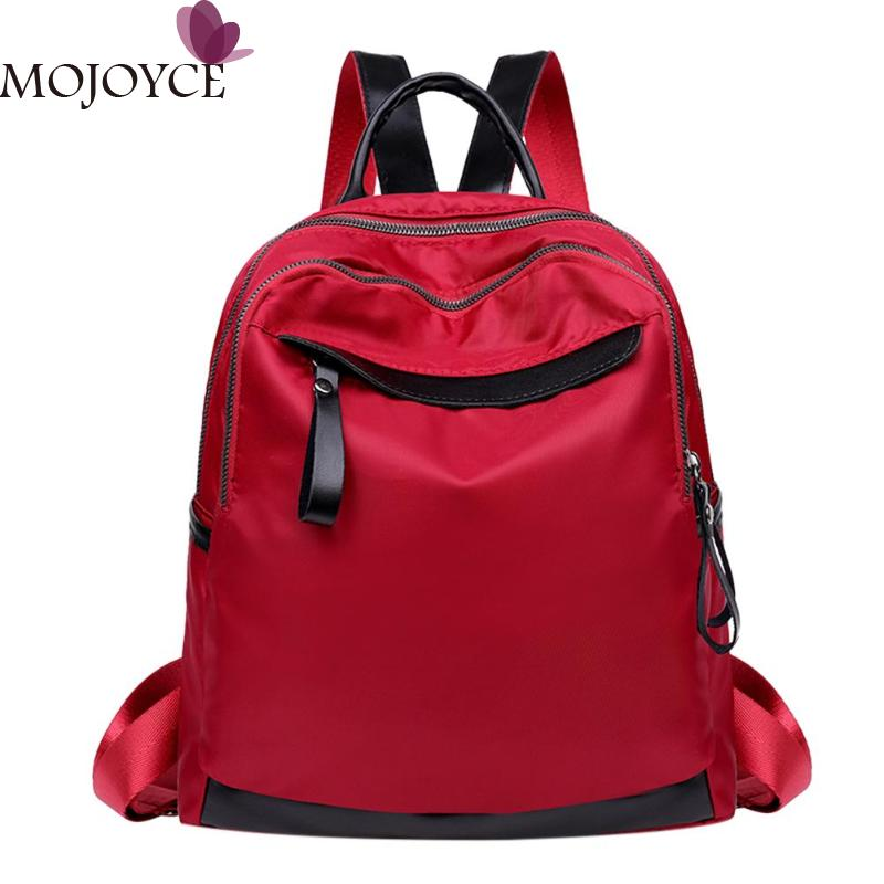 Women Travel Casual Rucksack Waterproof Nylon Backpack Teenager 4 Style Fashion Design Backpack Girls Campus Shoulder School Bag