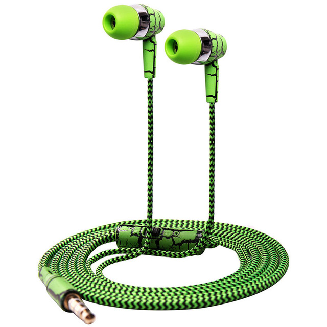 GZ Cracked Earphones Soft Cord Stereo Bass with Microphone