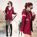 Autumn and winter women 's fashion trend temperament loose large yards College Wind comfortable hooded  coat
