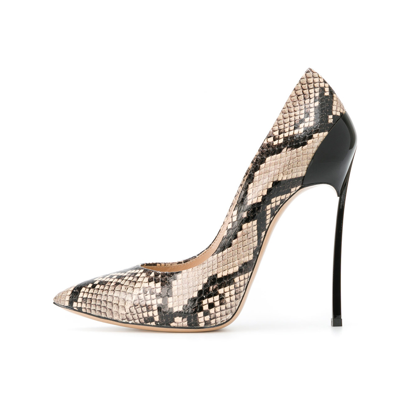 sexy pointed heels pumps Snake printing women high heels platform pumps women dress shoes metal heels zapatos de fiesta mujer картридж cactus cs ept0595 светло голубой