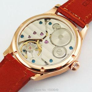 Image 5 - 44ミリメートルパーニスホワイトダイヤルケース機械式6497手巻きメンズ腕時計