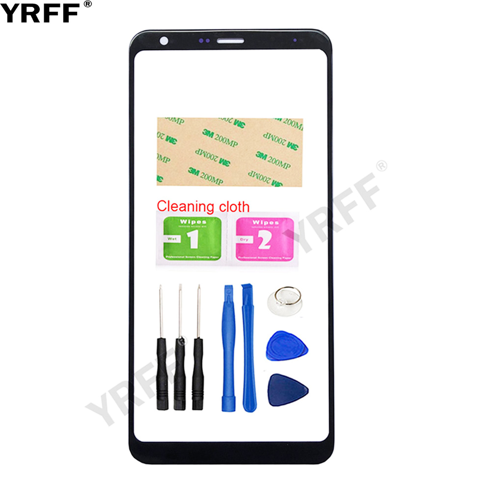 YRFF Mobile Front Panel Glass For LG Q Stylo 4 Q710 Q710MS Q710CS Front Glass Outer Glass Replacement Cover