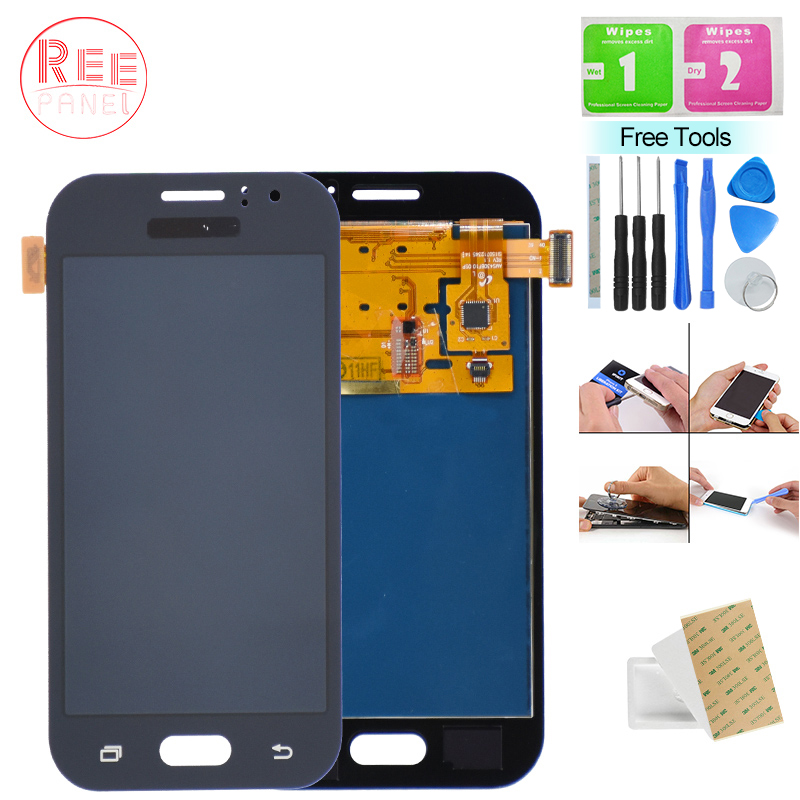 Mobile Phone LCD Screen For <font><b>SAMSUNG</b></font> GALAXY <font><b>J1</b></font> <font><b>Ace</b></font> 2016 J110 J110F SM-J110F LCD <font><b>Display</b></font> Touch Screen Digitizer Adjust Brightness image