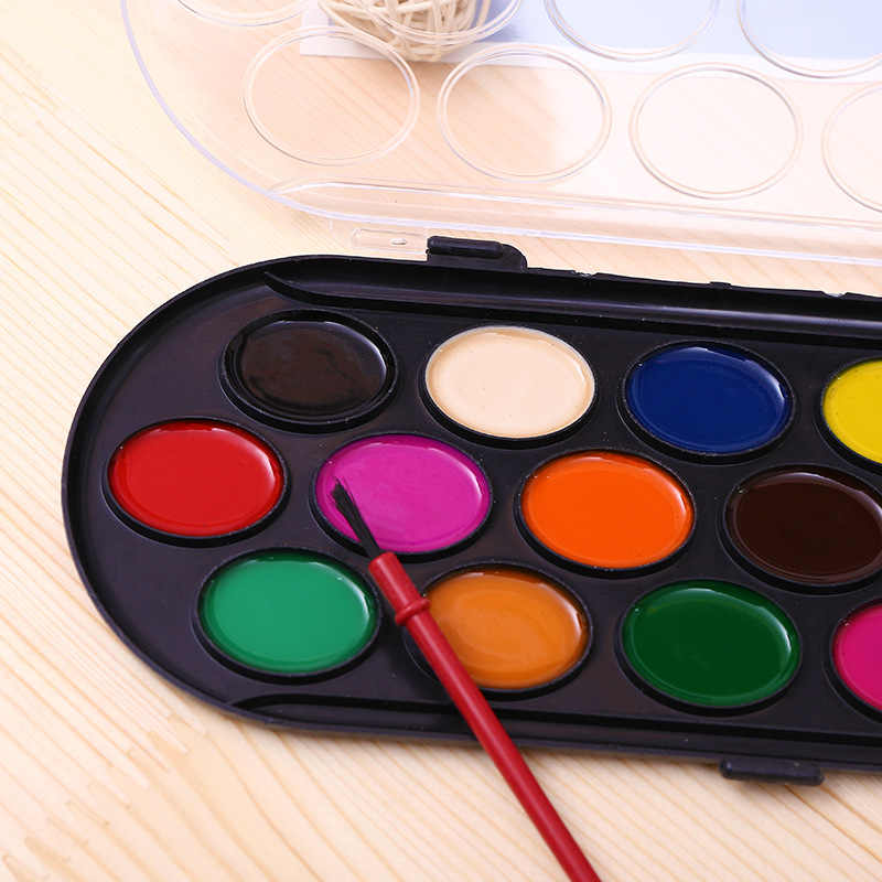 Diy Effen Aquarel Verf Verf Doos Met Penseel Board Games Voor Kinderen Ouder-kind Party Magic Kleur Kunst Tafel game