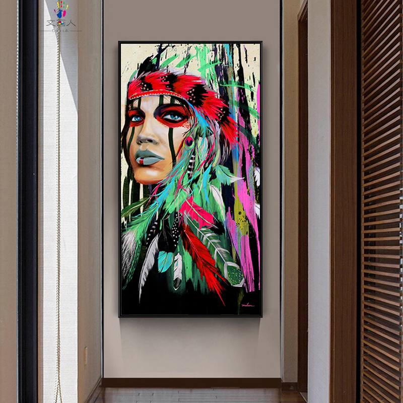 diy coloring paints by numbers Traditional classical Indians figures pictures colorings paintings by numbers for room wall decor