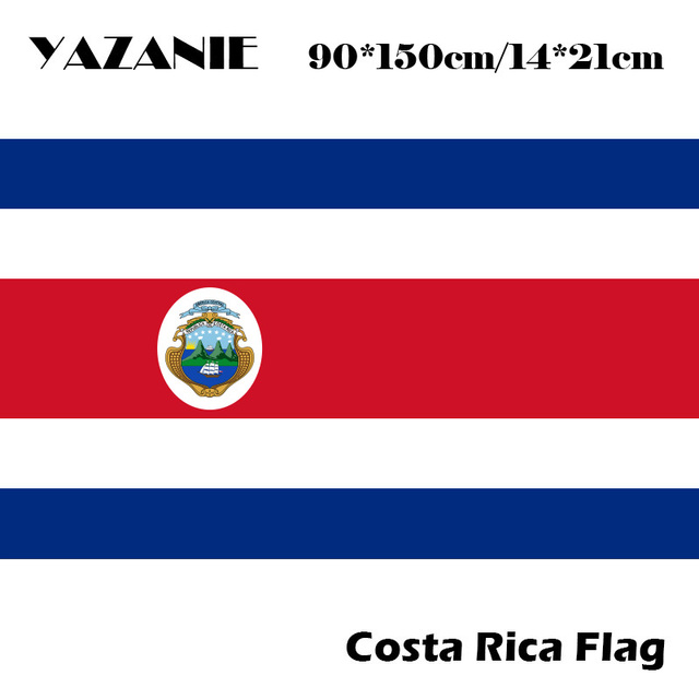 71ecd973f9aa YAZANIE 90x150cm Free Shipping New Costa Rica Flag 3ftx5ft Hanging Flag  Polyester Standard Custom Flag Events Party Banner