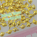Wholesale 100PCS/Lot 3D Sharp Tail Conch Shell Shape Alloy Nail Art Metal Decorations Gems Tip Free Shipping