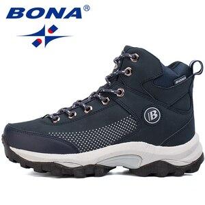 Image 5 - BONA yeni popüler stil kadın yürüyüş ayakkabıları açık keşfetmek çok Fundtion yürüyüş Sneakers aşınma direnci spor ayakkabılar kadınlar için