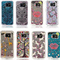 Cute Cartoon Girl Tree Transparent Dynamic Liquid Glitter Sand Quicksand Back Case Cover For Samsung Galaxy S6 phone case