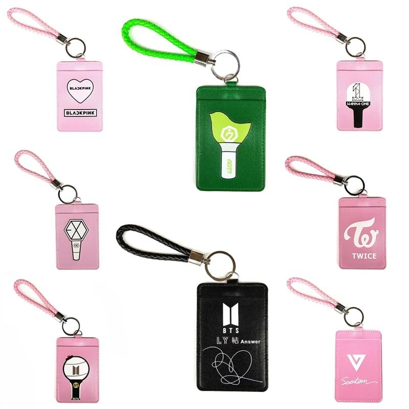 Card Holder & Note Holder K-pop Bts Bangtan Boys Transparent Laser Bus Card Case Card Holder Got7 Seventeen Twice Exo Pvc Card Holder