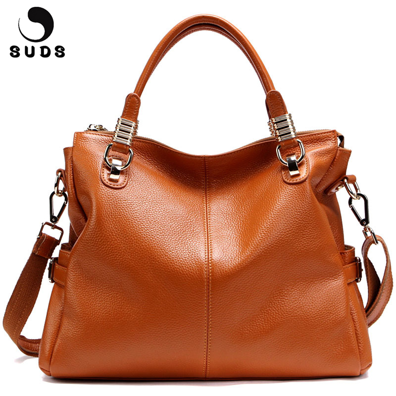SUDS Brand Genuine Leather Women Bags 2018 Designer Handbag High Quality Large Capacity Women Tote Messenger Bags Bolsa Feminina suds brand women casual 100