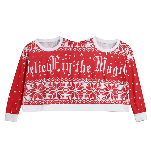 8601e34eb3 2018 Winter Couples Sweater pullover Two Person Ugly Sweater Couples  Pullover Christmas Blouse Top Shirt family