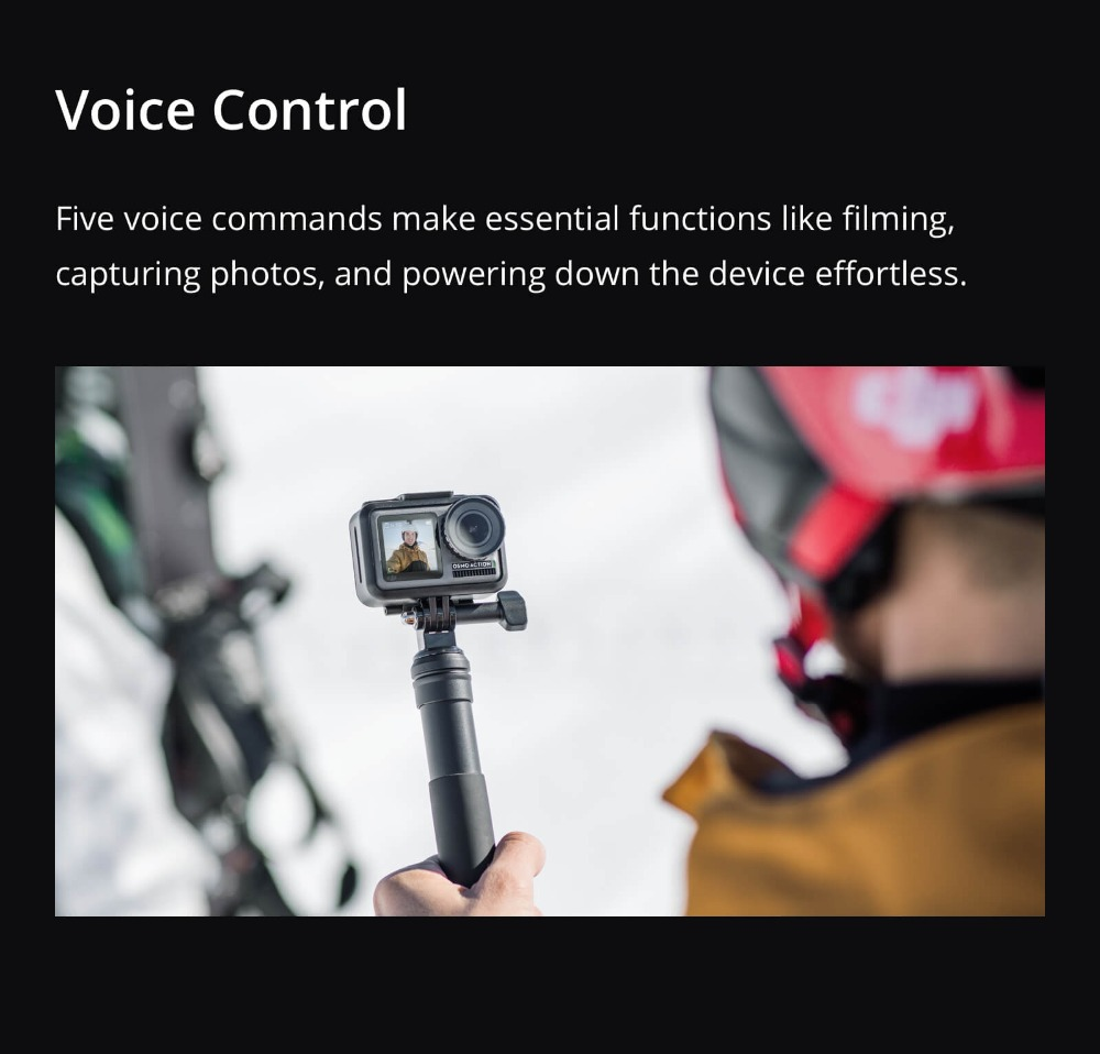 DJI Osmo Action Camera, Waterproof DJI Stabilized Handheld Dual Screens Camera