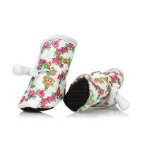 מוצרים לחיות מחמד כלבלב בגדי כלב קיץ סניקרס מגפי שרוכי מודפס בגדי נעלי כלב מתכוונן לנשימה אספקת QQM849