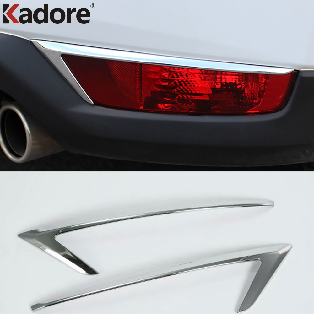 New ABS Chrome Trim Rear Tail Fog Light Cover For Mazda CX-5 2013-2016