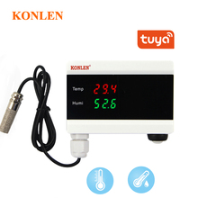 KONLEN Tuya WIFI Temperature Thermometer Humidity Hygrometer Detector Alarm Sensor Smart Life App Home Thermostat Controller