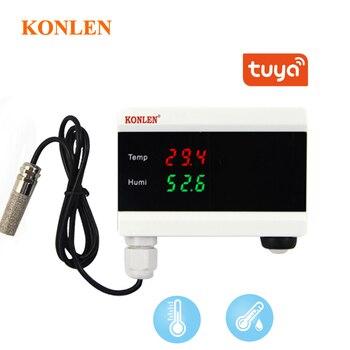 KONLEN Tuya WIFI Temperature Thermometer Humidity Hygrometer Detector Alarm Sensor Smart Life App home thermostat Controller https://gosaveshop.com/Demo2/product/konlen-tuya-wifi-temperature-thermometer-humidity-hygrometer-detector-alarm-sensor-smart-life-app-home-thermostat-controller/