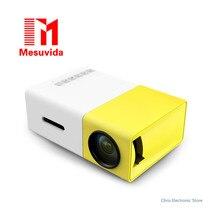 Mesuvida Подлинная YG300 Проектор YG 310 LED Портативный 500LM 3.5 мм Аудио 320×240 Pixel YG-300 HDMI USB Mini проектор Media Player