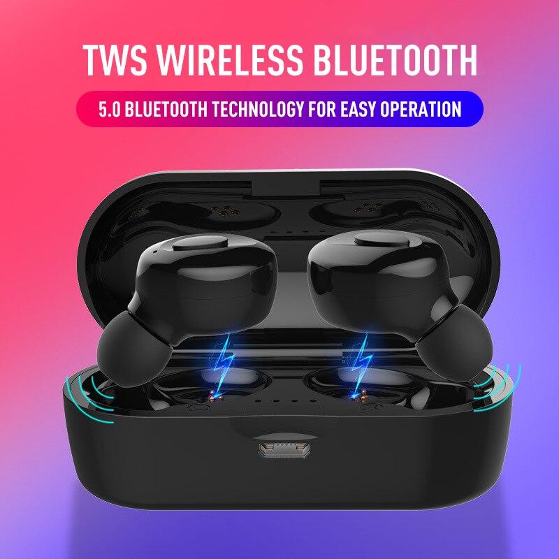 True Wireless Bluetooth 5 0 Earphones Headphones TWS Earbuds Sport Headset Mini HIFI Stereo Earphone Phone Gaming Headsets in Bluetooth Earphones Headphones from Consumer Electronics