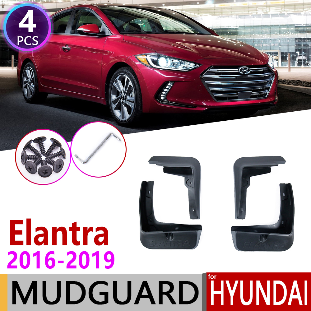 For Hyundai Elantra Avante AD 2016-2019 Fender Mudguard Mud Flaps Guard Splash Flap Mudguards Car Accessories 2017 2018 6th 6