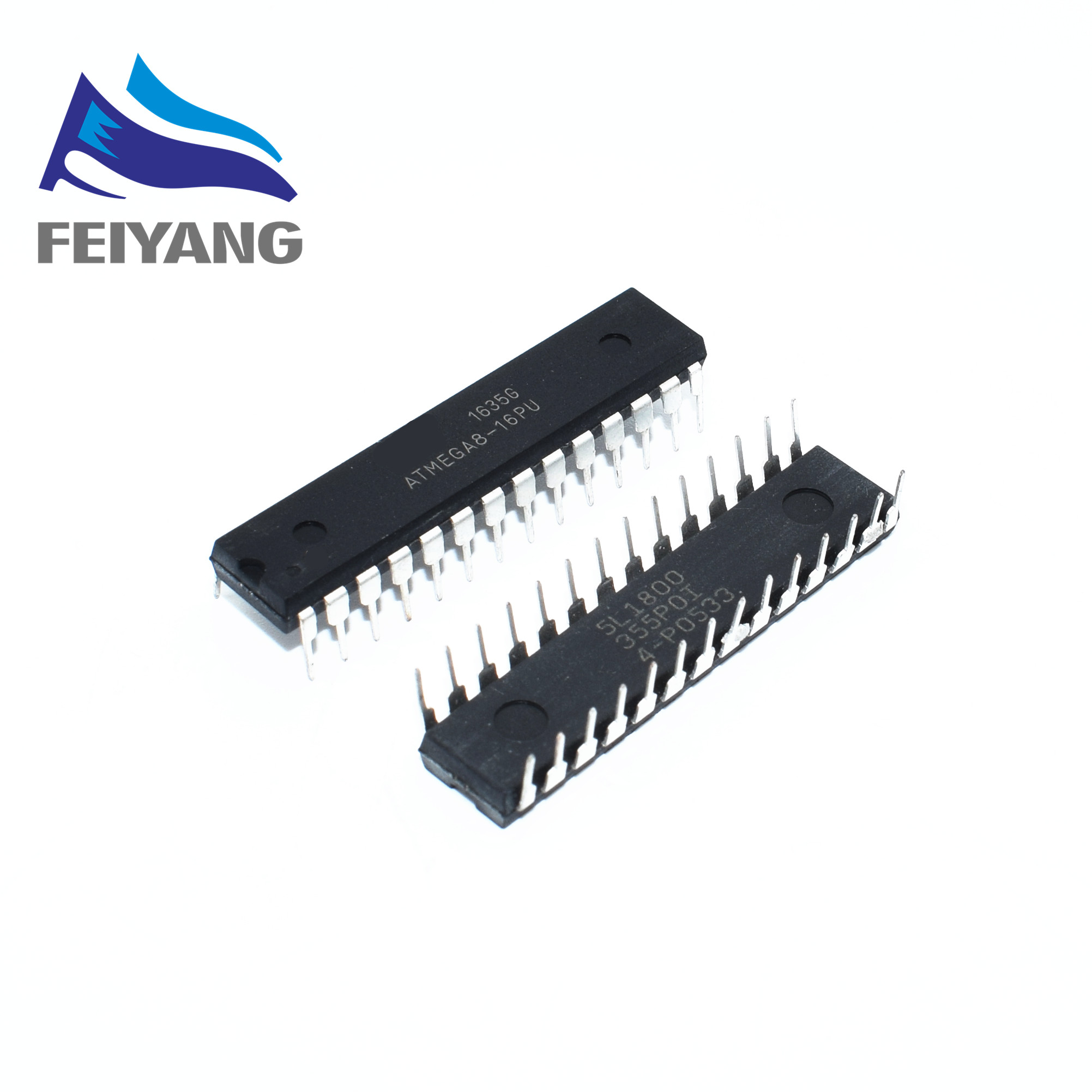 Free Shopping ! 100PCS,New ATMEGA8 ATMEGA8 16PU DIP Flash IC-in Integrated Circuits from Electronic Components & Supplies