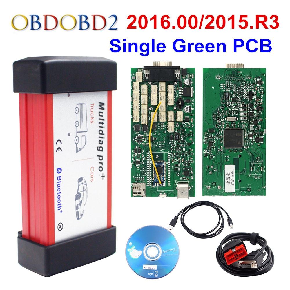 2016,00 SW Multidiag Pro TCS CDP PRO Bluetooth 3,0/4,0 Multi Diag Pro WOW 2015. r3 с Keygen грузовых автомобилей OBD2 инструмент диагностики