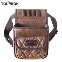 Tourbon Hunting Tactical Gun Cartridges Bag Shooting Game Bag Ammo Shells Holder Durable PU Pouch With