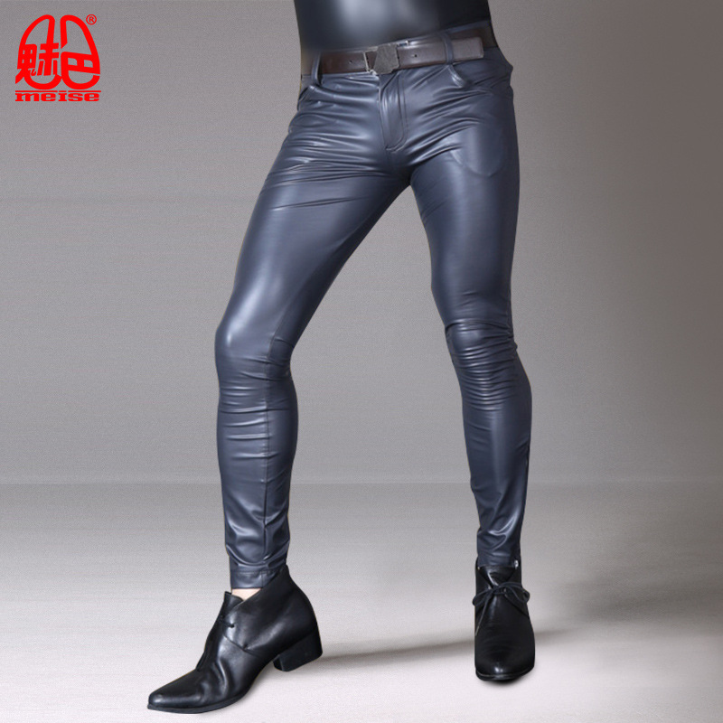 Sexy Fancy Tight Leather Men Pants For Special Occasions