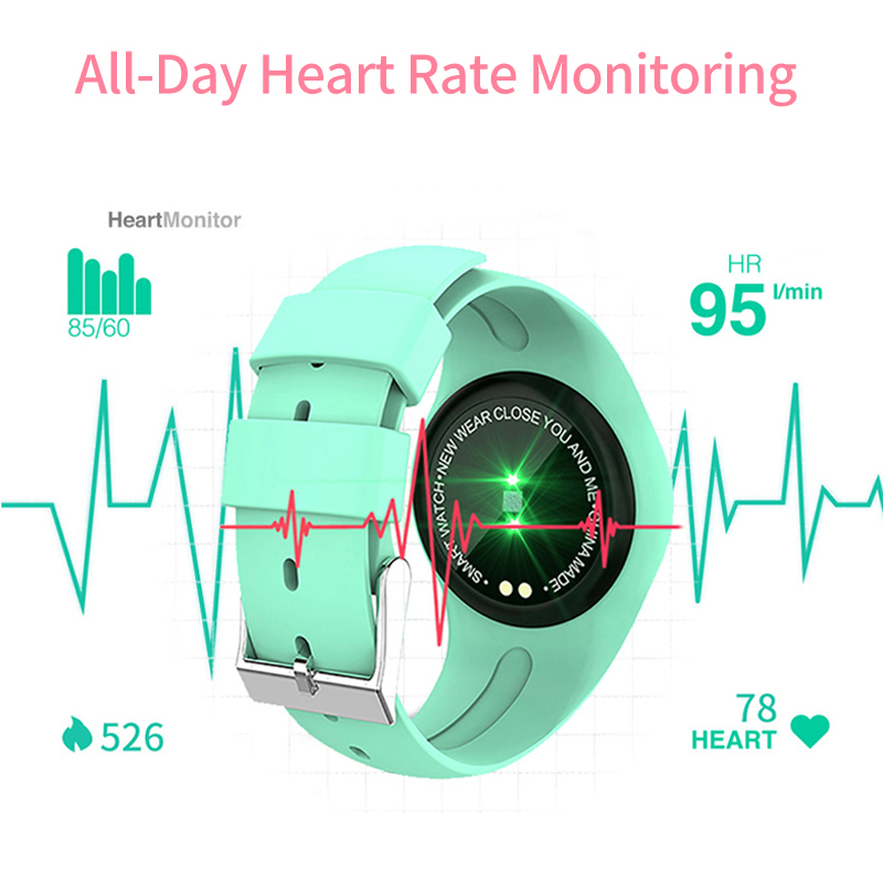 Image 5 - Women Smart Watch Fitness Bracelet Heart Rate Monitor Blodd Presssure Measurement Call Riminder for iPhone xiaomi Samsung Pink-in Smart Wristbands from Consumer Electronics