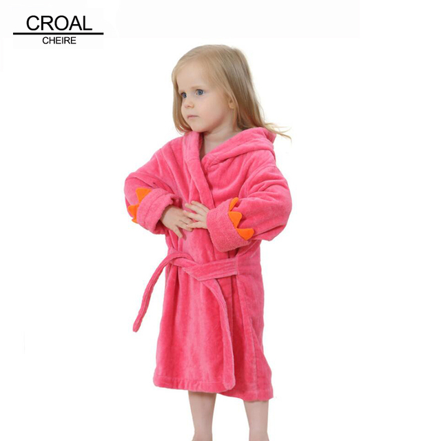 889312e03f69 Dinosaur Velvet Bath Robe Poncho Hooded Towel Girls Bathrobe Kids ...