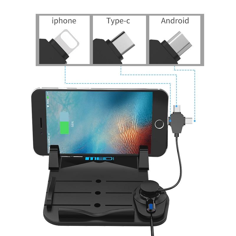MEIDI Bilmontering Telefonlader Holder USB med DC 5V 2.1A Porta - Bilinnredningstilbehør - Bilde 3