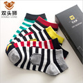 Striped socks cross section small sacks Comfortable spring and summer breathable men socks