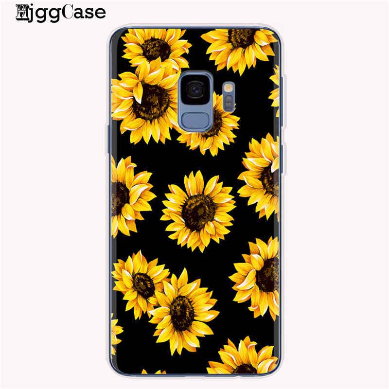 Verão margarida girassol flor floral caixa do telefone fundas coque para samsung galaxy s8 s9 s10 plus s10e j6 a6 a8 a5 2017 a9 a7 2018
