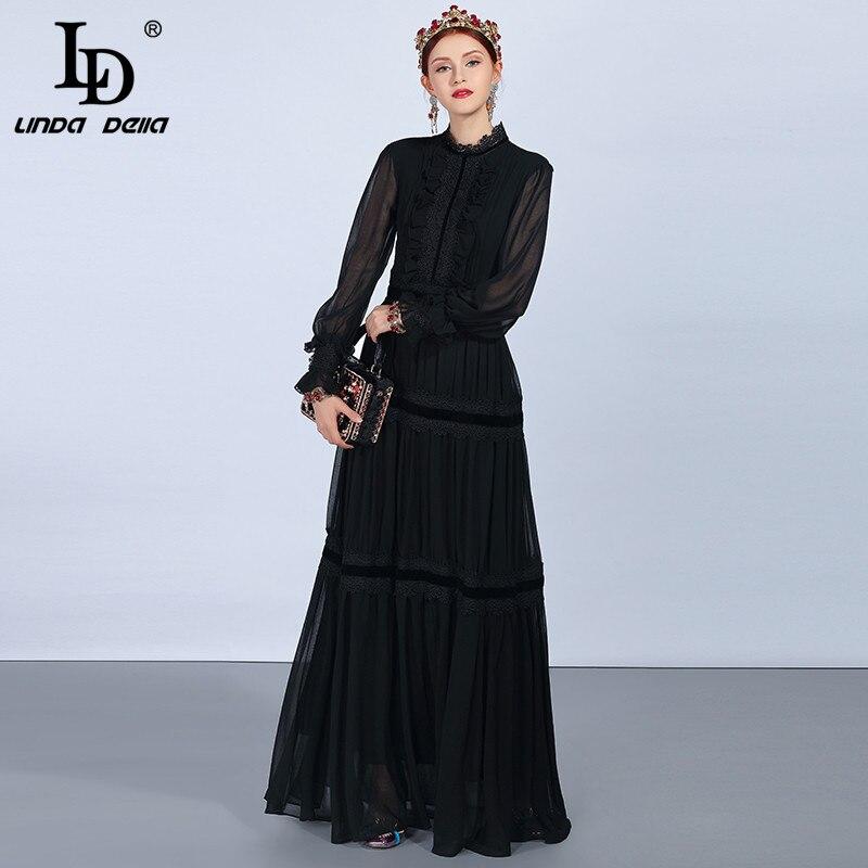 Qian Han Zi 2019 Брендовое модное платье для подиума женское элегантное платье без рукавов 100% хлопок вечерние платье с вышивкой и пайетками - 3