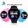 1.22 'Tela de Toque Rodada Super Inteligente GPS WIFI AGPS Rastreamento Ios SmartWatch SOS Relógio Pedômetro Para crianças As Crianças Mais Velhas Android