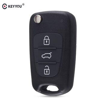 chiave telecomando per HYUNDAI I30 IX35 For Kia K2 K5 Sportage Picanto rio Cerato Ceed Soul Flip Folding Remote key Shell 3 Tasti