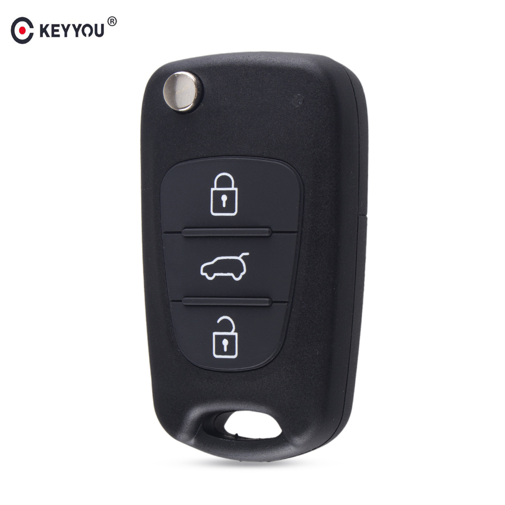 KEYYOU For HYUNDAI I30 IX35 For Kia K2 K5 Sportage Picanto rio Cerato Ceed Soul Flip Folding Remote key Shell 3 Buttons maizhi 3 button flip folding car key shell for hyundai avante i30 ix35 kia k2 k5 sorento sportage key cover case styling