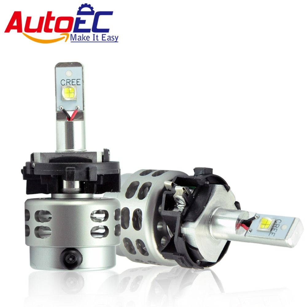 AutoEC Car LED Headlight Kit  H7 H7LL 80w 5000lm high power LED Hi/Lo Beam Head light Bulb for Golf 7,T5 #TD003