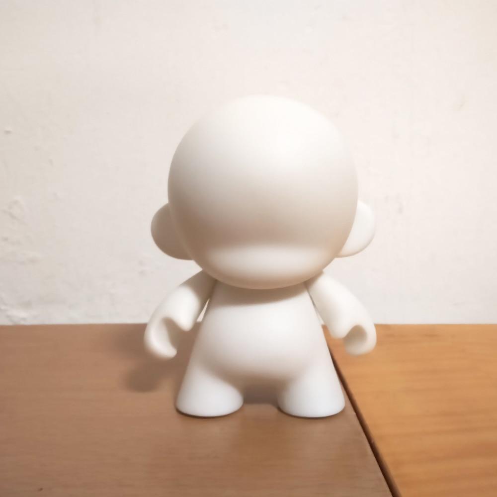 5 հատ 4 դյույմ Kidrobot munny սպիտակ սև DIY - Խաղային արձանիկներ - Լուսանկար 4