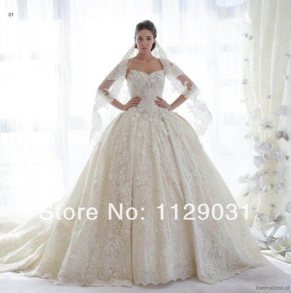 Best Quality 2014 New Arrivel Classy Luxury Ball Gown Wedding ...