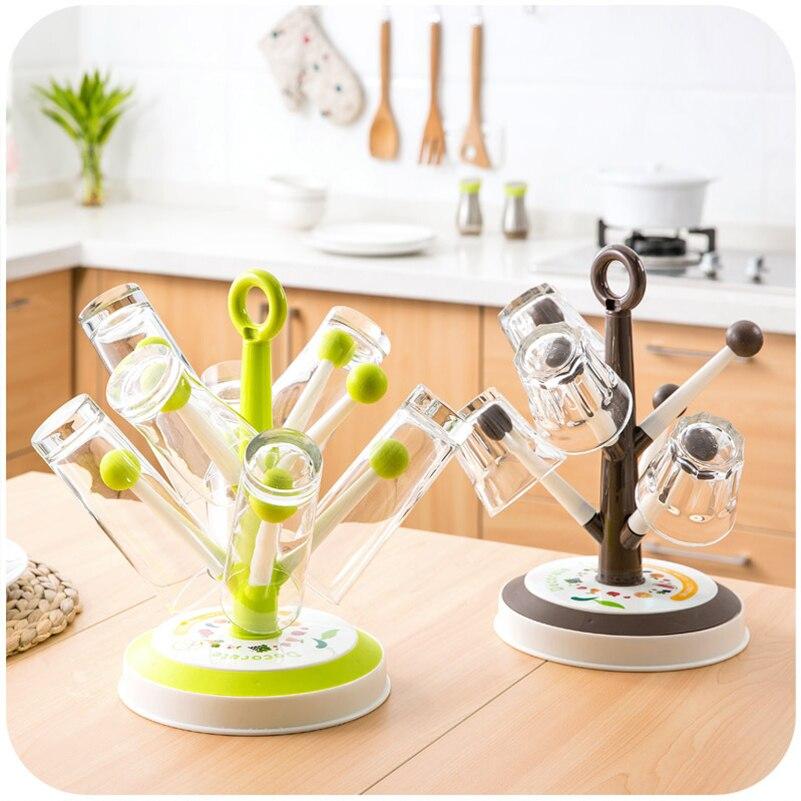 Mug Shelf Kitchen: Creative Drying Storage Rack Mug Cup Hanger Rack Plastic