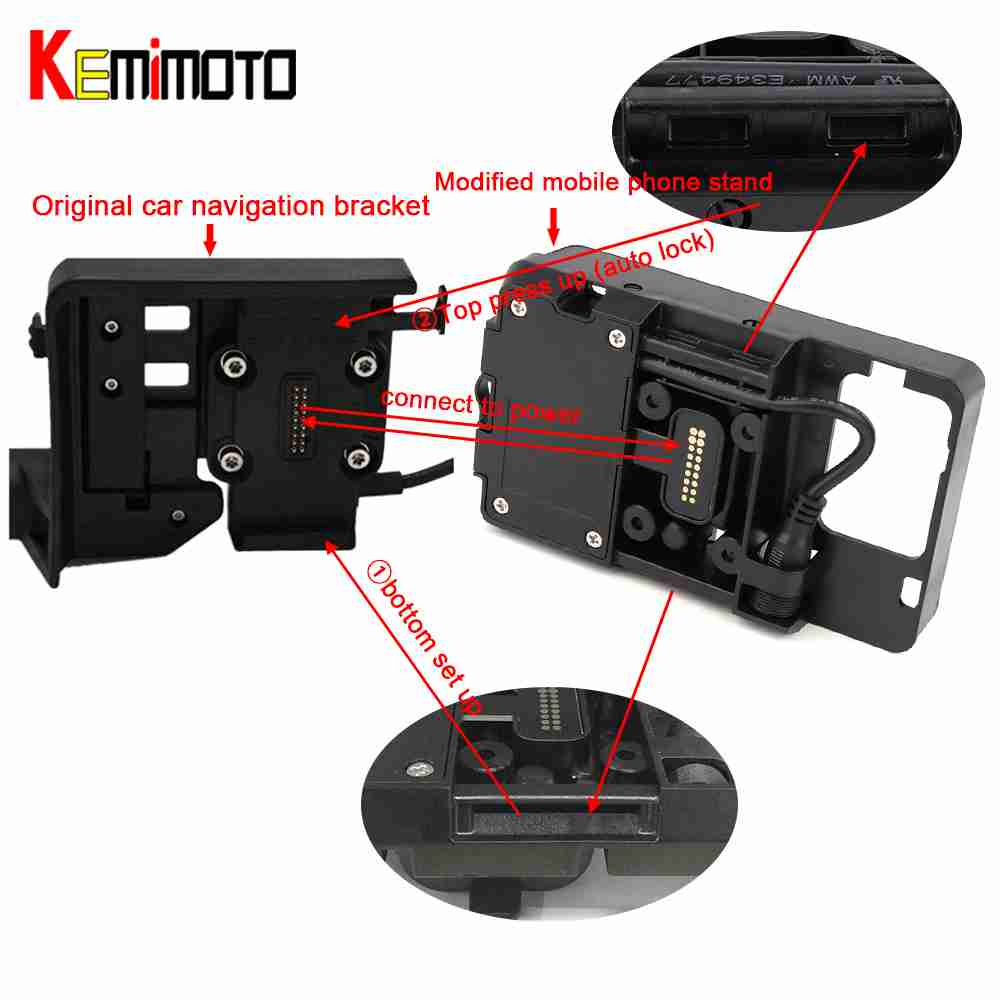 Motorcycle Phone Navigation Bracket USB Charging Mount Stand Moto For BMW R1200GS ADV F700 800GS For
