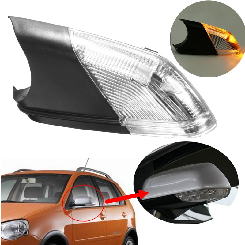 Brand New Left Passage Side Wing Car Styling Rearview Mirror Turn Signal Light Led Lamps Indicator For VW /Polo /mk4 /FL 2016 new hot fashion panda wing smile face design 3d decoration sticker for car side mirror rearview free shipping