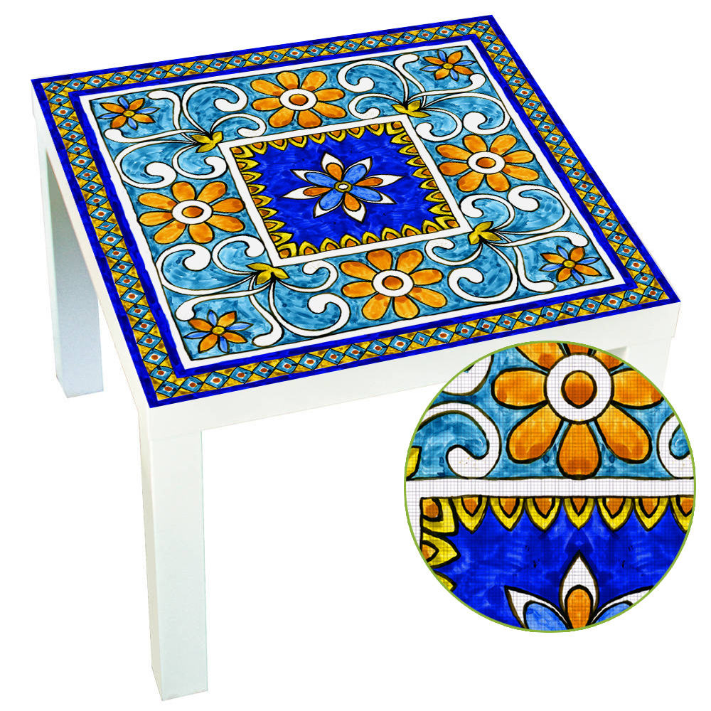 Ltalian Majolica Tiles Italy Style Lack Table Desk Tops Covers Decorative Refresh Film Wall Stickers For Home Decoration Supply Стол