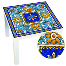 Ltalian Majolica Tiles Italy Style Lack Table Desk Tops Covers Decorative Refresh Film Wall Stickers For Home Decoration Supply