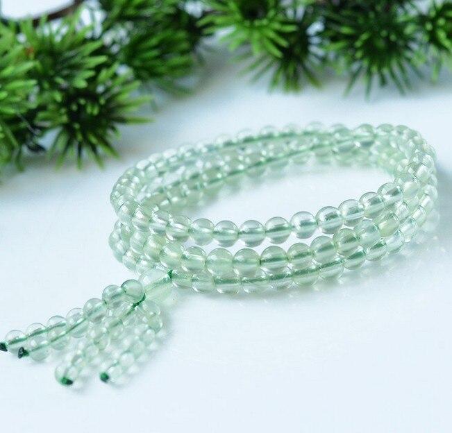 Bracelet en perles naturelles cristal 108 pièces Bracelet en pierres précieuses fines bijoux pour femmes cadeau avec livraison directe de certificat