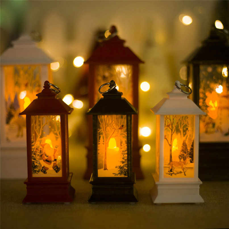 1PC Christmas Candle Holders Classic Lantern Windproof Candle Holders Christmas Decorations For Home 2018 candelabra #BL5